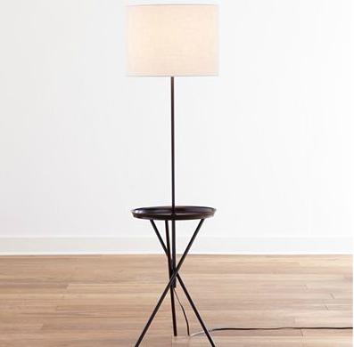jonathan adler meurice bronze tray table floor lamp look 4. Black Bedroom Furniture Sets. Home Design Ideas