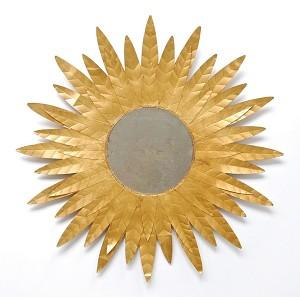 Mirrors - Louis Starburst Mirror by Worlds Away - worlds away, louis, starburst, mirror