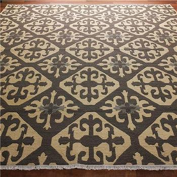 Moroccan Tile Soumak Rug: 2 Colors, Shades of Light