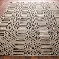 Rugs - Laced Links Dhurrie Rug: 2 Colors - Shades of Light - laced, links, dhurrie