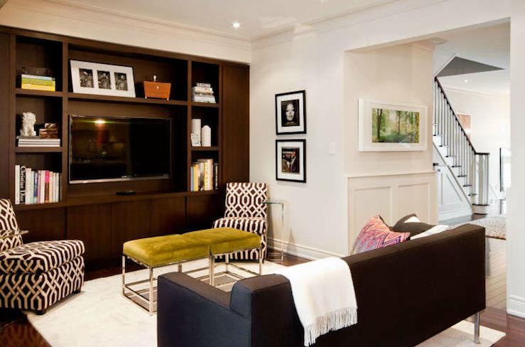 Built In Cabinets Contemporary Living Room Benjamin