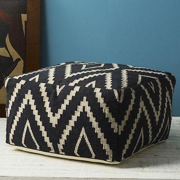Seating - Kite Kilim Floor Pouf | west elm - kite, kilim, floor, pouf