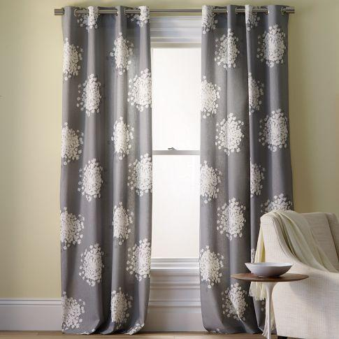 Window Treatments - Queen Anne's Lace Printed Panel | west elm - queen anne, lace, printed, panel