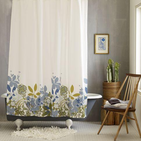Bath - Spring Floral Shower Curtain | west elm - spring, floral, shower, curtain