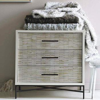 Storage Furniture - Wood Tiled 3-Drawer Dresser | west elm - wood tiled, 3 drawer, dresser