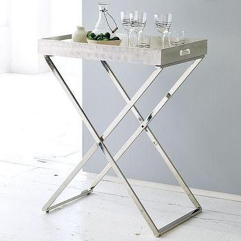 Tables - Tall Butler Tray Stand | west elm - tall, butler, tray, stand