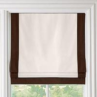 Window Treatments - Bordered Cotton Canvas Cordless Roman Shade | Roman Shades | Restoration Hardware Baby &amp; Child - chocolate, bordered, cotton, canvas, cordless, roman shade