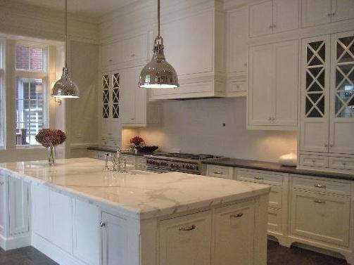 yoke pendants transitional kitchen