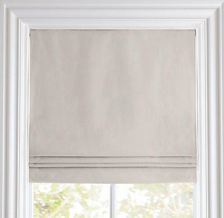 Window Treatments - Cotton Canvas Cordless Roman Shade | Roman Shades | Restoration Hardware Baby &amp; Child - gray, cotton, canvas, cordless, roman shade
