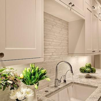 Kashmir White Granite, Transitional, kitchen, Benjamin Moore White Dove, Studio 212 Interiors