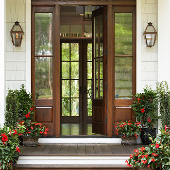 Glass Paned Doors, Traditional, home exterior, Linda McDougald Design
