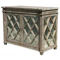 Storage Furniture - Alice Lane Home Collection Antique Glass Chest Mindi Wood Grey Wash - antique, glass, chest, mindi, wood, gray
