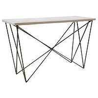 Tables - Alice Lane Home Collection George Console with White Resin - george, console, table, white, resin