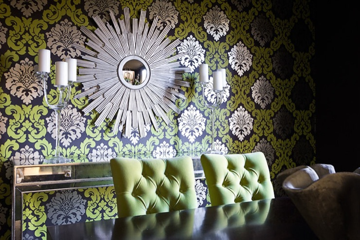 Excellent Black Damask Wallpaper Dining Room 740 x 493 · 173 kB · jpeg