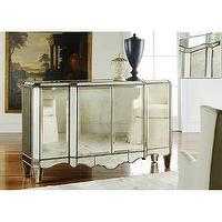 Storage Furniture - Alice Lane Home Collection Mirrored Sideboard - mirrored, sideboard