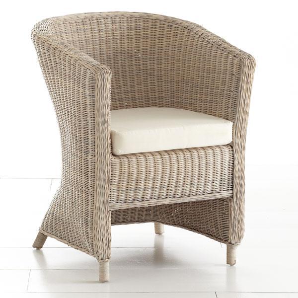 Wicker Arm Chair Whitewash Chairs Wisteria