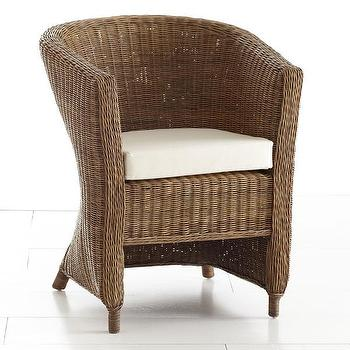Wicker Arm Chair, Natural, Chair, Wisteria
