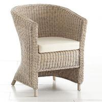 Seating - Wicker Arm Chair - Whitewash | Chairs | Wisteria - wicker, arm chair, whitewash