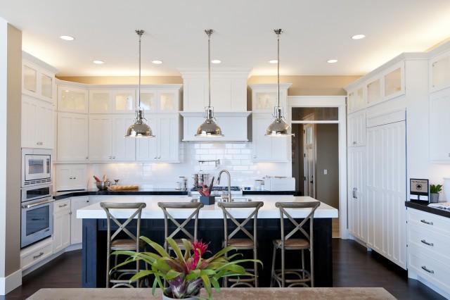 U Shaped Kitchen Transitional Kitchen Candlelight Homes