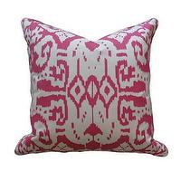 Pillows - Magenta Ikat Pillow | Pieces - magenta, ikat, pillow