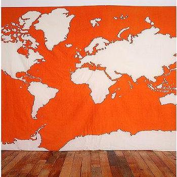 Art/Wall Decor - UrbanOutfitters.com > Atlas Tapestry - orange, atlas, tapestry