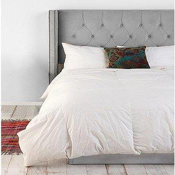 Beds/Headboards - UrbanOutfitters.com > Ritz Empire Headboard - gray, tufted, wing, ritz, empire, headboard