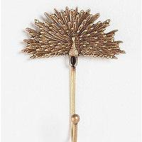 Decor/Accessories - UrbanOutfitters.com > Golden Peacock Hook - golden, peacock, hook