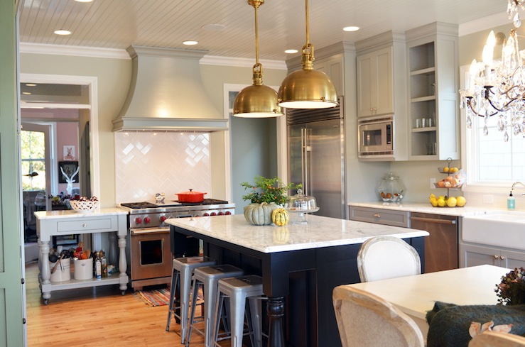 French KItchen Design - French - kitchen - Benjamin Moore Hazy