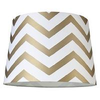 Lighting - Mix-and-Match Lamp Shade - Chevron Lamp Shade - ... : Target - gold, chevron, lamp, shade
