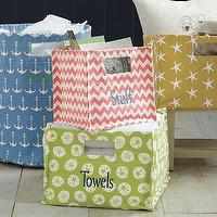 Decor/Accessories - Printed Canvas Storage Bins - Garnet Hill - printed, canvas, storage, bins