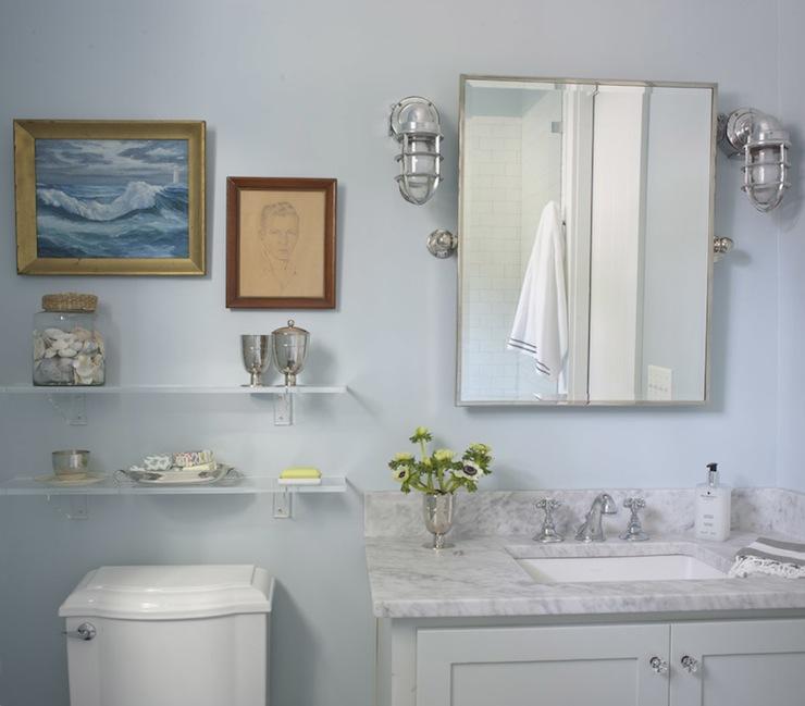 Maritime Caged Sconce - Cottage - bathroom - Rethink Design Studio