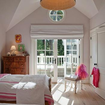 French Doors Roman Shade, Eclectic, girl's room, Benjamin Dhong
