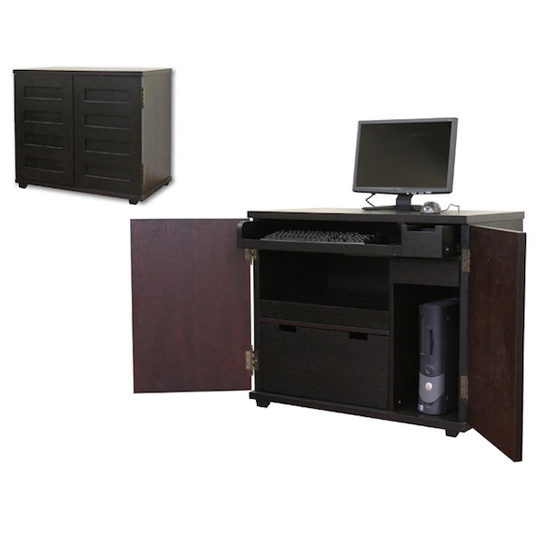 Crate Amp Barrel Incognito Ebony Compact Office Look 4 Less