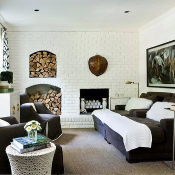 Brick Living Room Ideas, Contemporary, living room, Melanie Turner Interiors