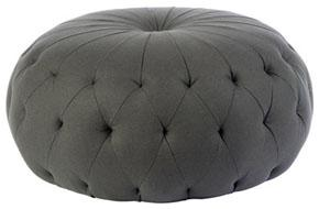 Seating - Maison Luxe Pouf - gray, tufted, pouf