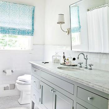 Gray and Blue Bathroom Ideas, Contemporary, bathroom, Melanie Turner Interiors