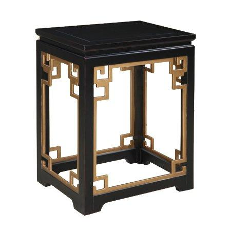 Gail's Accents 20-078ET Classic Greek Key End Table, Black ...