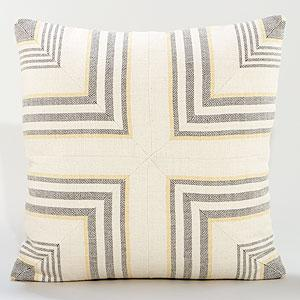 Pillows - Gray/Yellow Herringbone Toss Pillow | Pillows and Throws| Home Decor | World Market - gray, yellow, mitered, herringbone, pillow