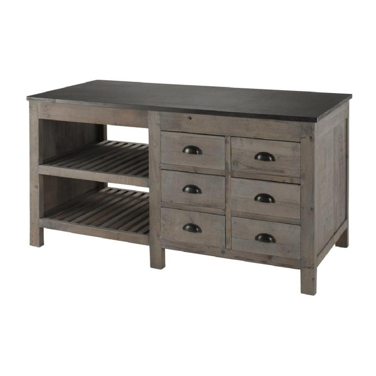 Storage Furniture - Brownstone PR306 Portrero Kitchen Island Sideboard - Home Furniture Showroom - brownstone, portrero, kitchen island, sideboard