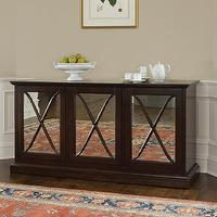Storage Furniture - Brownstone SN305 Sienna Server Sideboard, Warm Chestnut - Home Furniture Showroom - brownstone, sienna, server, sideboard