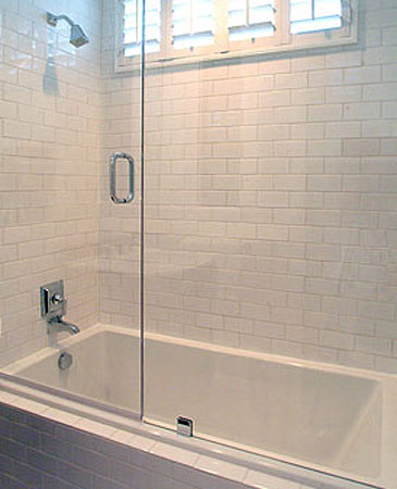 Glass Shower Doors Transitional Bathroom David Brian Sanders