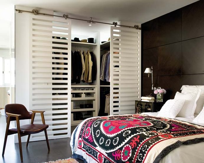 sliding closet doors contemporary bedroom