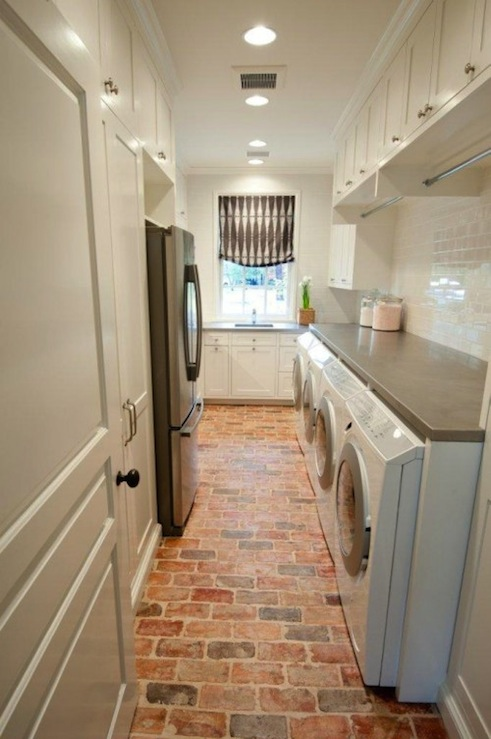 Double Washer and Dryer - Transitional - laundry room - Munger ...