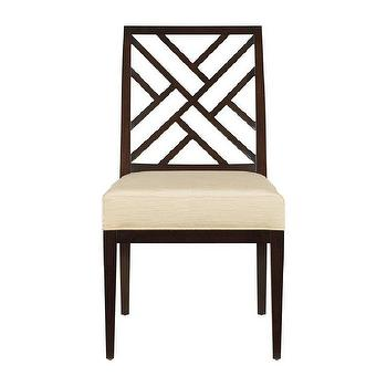 Seating - Stanley Furniture 816 Continuum Fret Back Side Dining Chair - Home Furniture Showroom - fret, dining chair