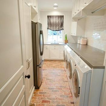 Double Washer and Dryer, Transitional, laundry room, Munger Interiors