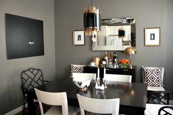 Grey Walls Contemporary Dining Room Ralph Lauren