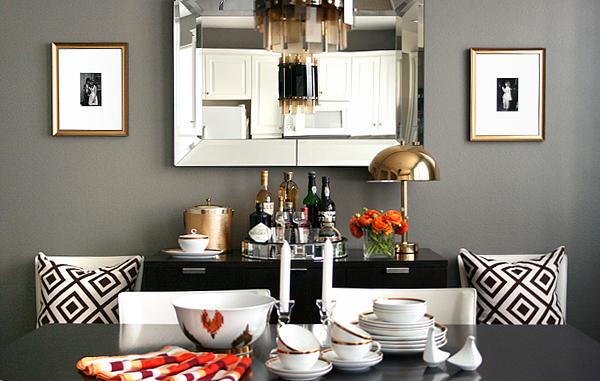 Gray walls contemporary dining room ralph lauren for Ralph lauren dining room ideas