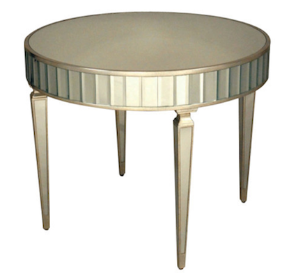 Round Mirrored Foyer Table Look 4 Less