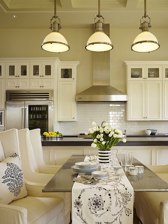 Country industrial pendants 0 transitional kitchen for Country industrial kitchen designs