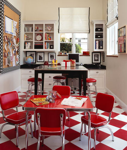 Decoracao De Sala Retro ~ Checkered Tile Floor  Vintage  denlibraryoffice  DeCesare Design